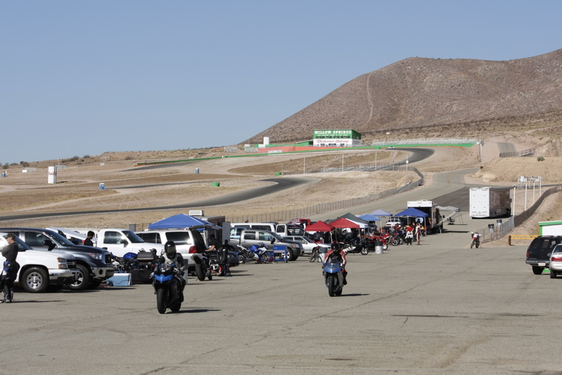 Pit Lane at the Streets course at Willow Springs (Big Track in the Background)