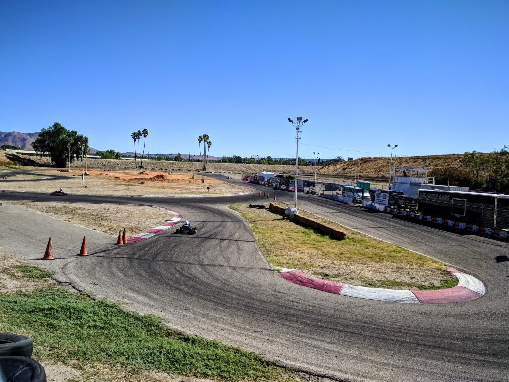 dams Kart Track in Riverside, California