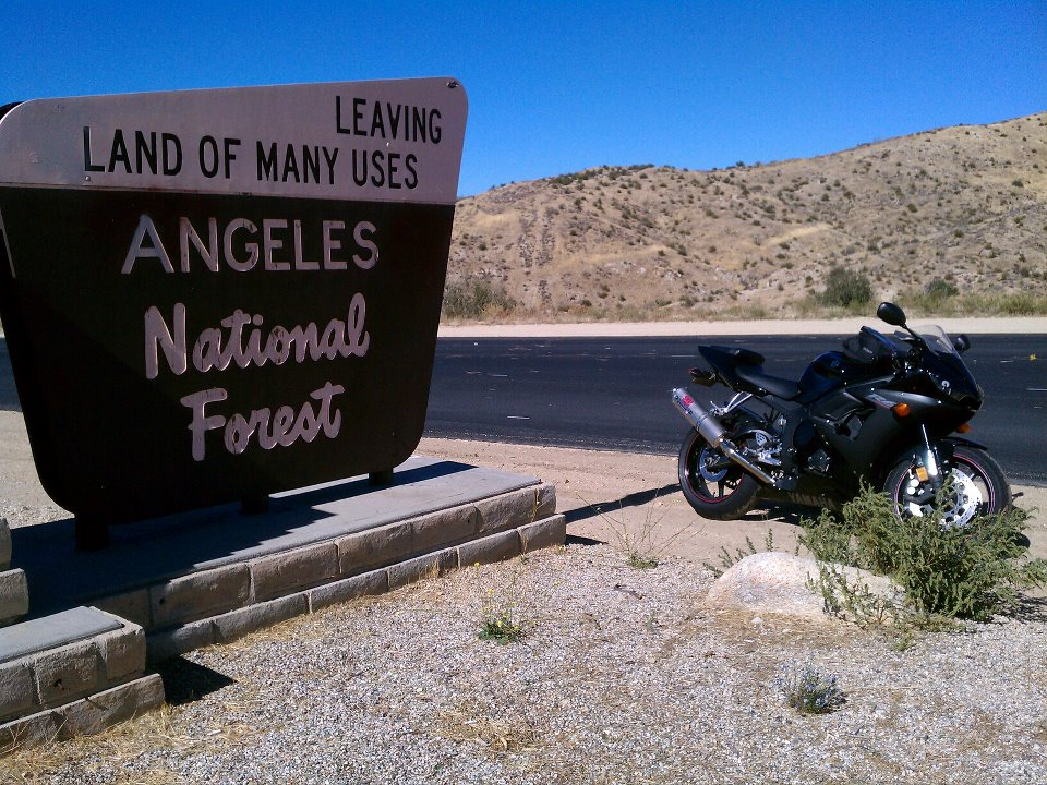Angeles National Forest Sign