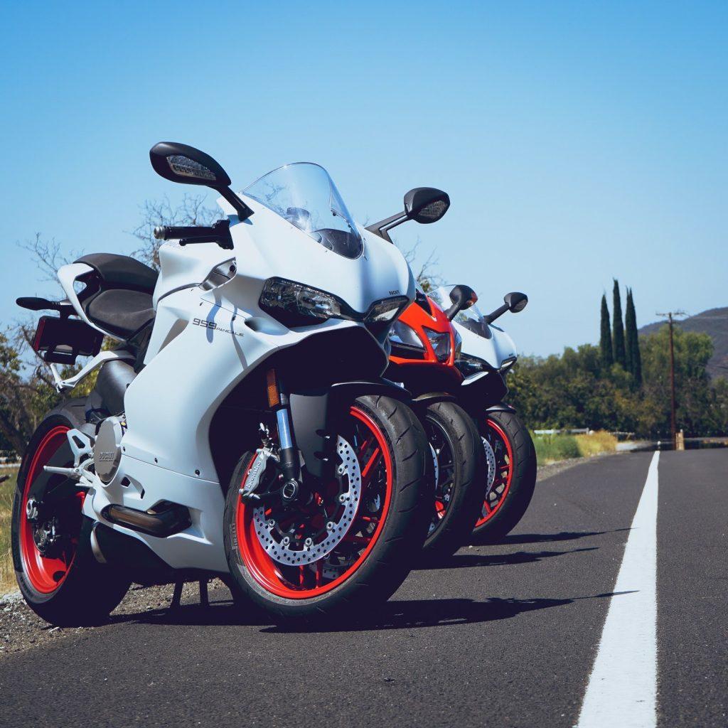 Ducati and Aprilia sportbikes